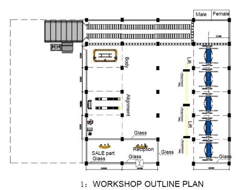 layout of workshop of automobile the atuo repair workshop design for you