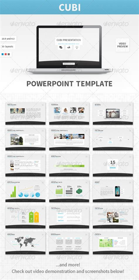 presentation template graphicriver cubi powerpoint