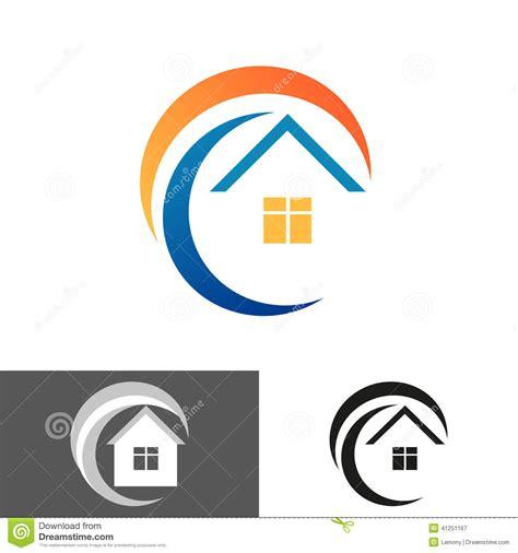 backdrop logo design home house icon logo stock vector image 41251167