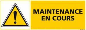 panneau maintenance en cours c0960