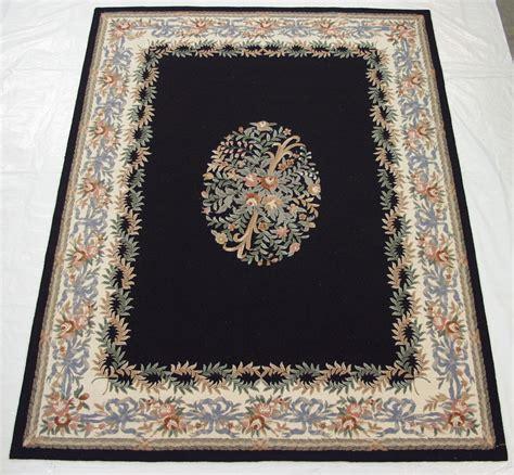 rug liquidators hooked needlepoint design carpet 9x12 black rug 29427 ebay