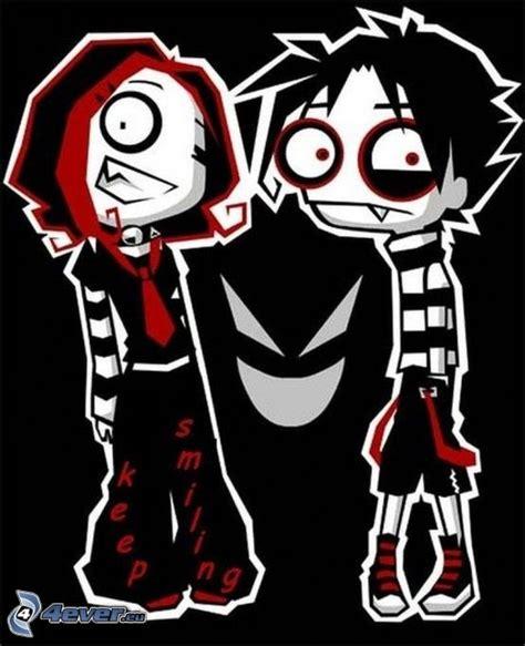 imagenes anime emo punk emo couple