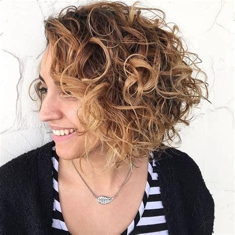 asymmetrical short curly hair styles 2018 2019 short bob