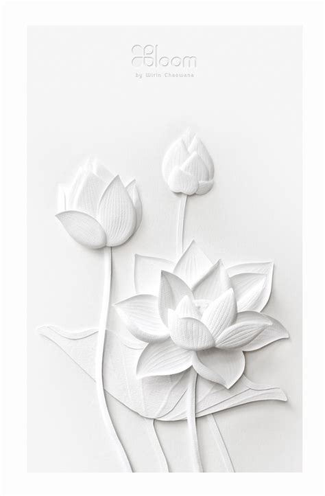 How To Make A Paper Sculpture Flower - paper sculpture white thai flowers on behance