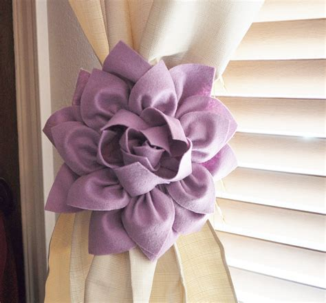 flower tie backs for curtains two dahlia flower curtain tie backs curtain tiebacks curtain