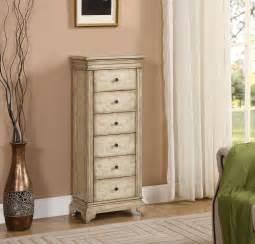 gilston distressed ivory jewelry armoire 91793 coast to