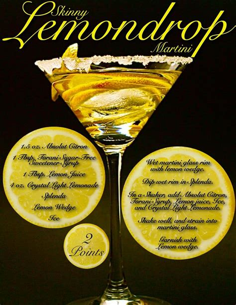 skinny lemon drop martini drinky drinks pinterest