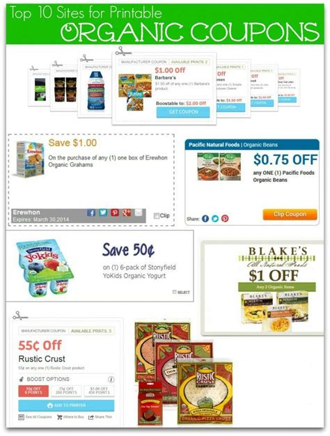 printable grocery coupons for organic foods top 10 printable organic food coupons sources