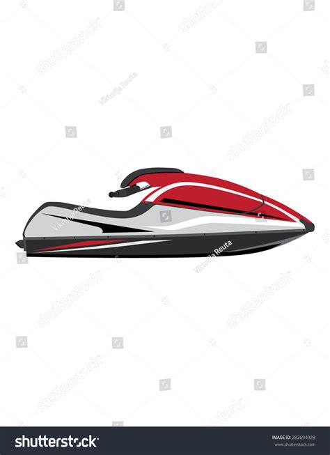 water scooter english white and red water scooter vector icon isolated extreme