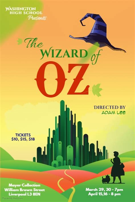 wizard of oz poster template postermywall