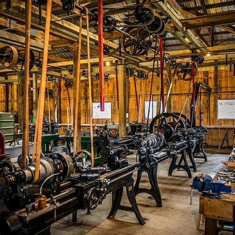 New American Floor Plans old school machine shop photograph by paul freidlund