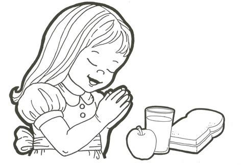 imagenes de ninos rezando para colorear ni 241 os rezando para comer para colorear imagui