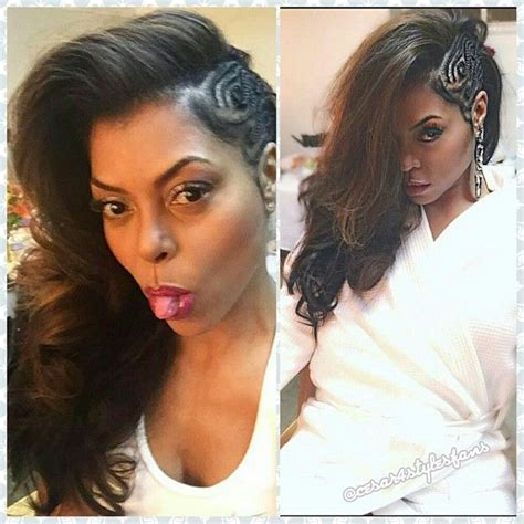zendaya one sided braid by kim kimble get the look taraji p henson s side swept braid style