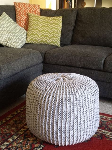 ottoman knitted 18 knit pouf patterns guide patterns