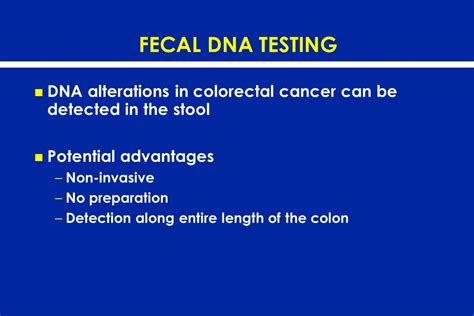 Stool Dna Test For Colon Cancer cancer screening tests evaluating the evidence ppt