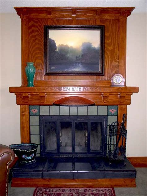 craftsman style mantel with surround after best