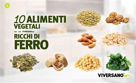 alimenti vegetali ricchi di ferro alimenti ricchi di ferro ecco 10 cibi vegetali con ferro