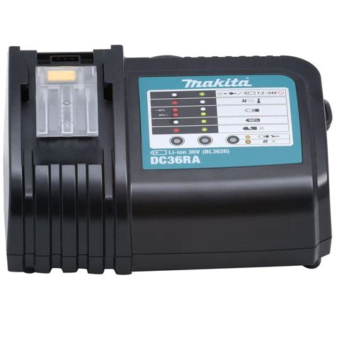 Battery Charger Kit Du Pan 04 1 makita 36 volt lithium ion rapid optimum charger dc36ra the home depot