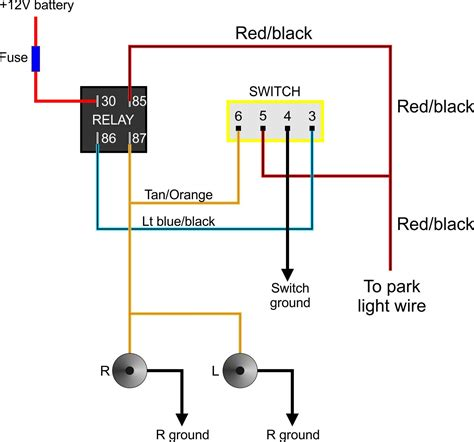 hid fog lights relay wiring diagram free wiring