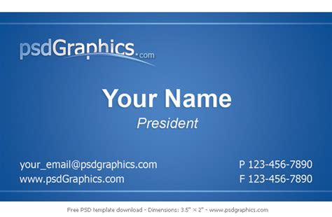 Business Card Format Template business card template design psdgraphics