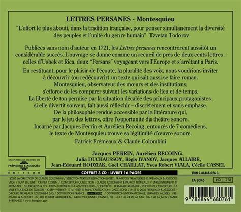 letters montesquieu lettres persanes montesquieu fa8076 fr 233 meaux associ 233 s