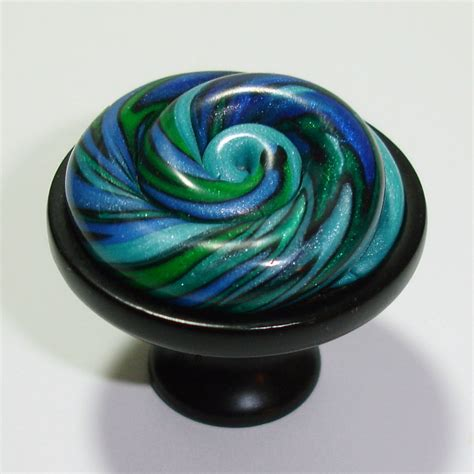 Beautiful Knobs by Beautiful Spiral Cabinet Knobs In Blues Greens By Outrageous