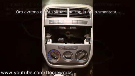 radiatore interno lancia y smontare console centrale clima autoradio bocchette