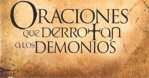 libro oraciones que derrotan a libros apostolicos y profeticos oraciones que derrotan a los demonios