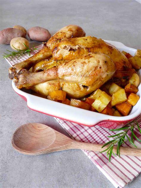 cuisine patate douce poulet r 244 ti aux patates douces pommes de terre et massal 233