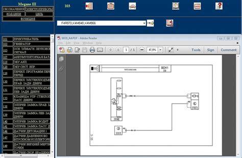 электрическая схема visu renault wiring diagrams для