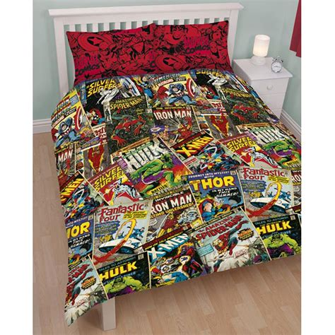 Marvel Bed Set Official Marvel Comics Bedding Bedroom Accessories Duvets Curtains Ebay