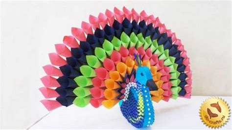 Crafts Made Out Of Paper - diy crafts how to make a peacock out of colored paper