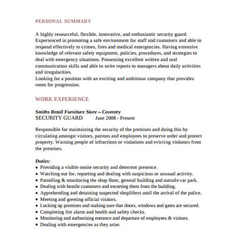 Sample Security Guard Resume – Security Guard Resume Sample, Free Resume Template
