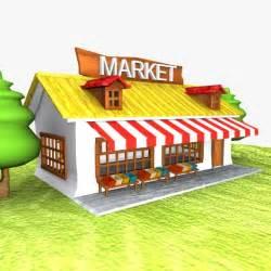 Autodesk Interior Design Cartoon Market Toon 3d Model