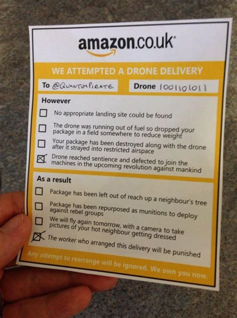 amazon delivery amazon drones quick thinking twitter user mocks up amazon