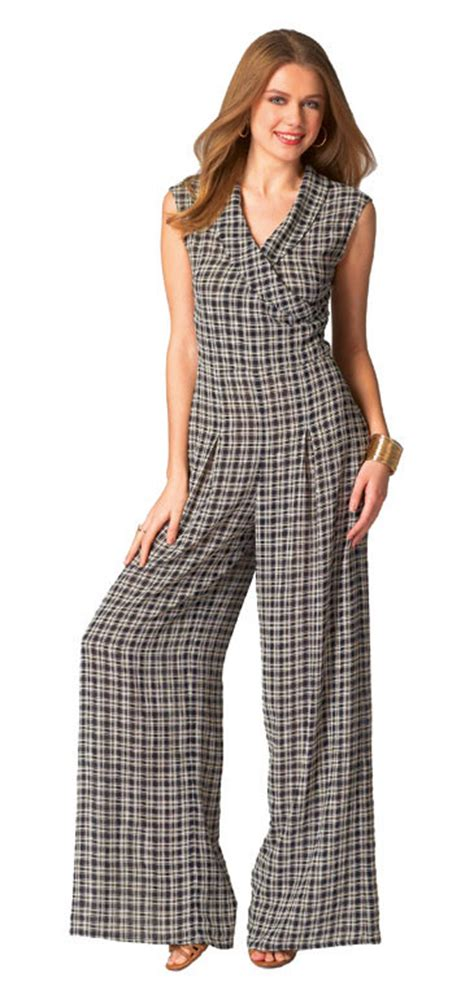 pattern jumpsuit shorts mccall s 7133 pattern wrap top pants jumpsuit