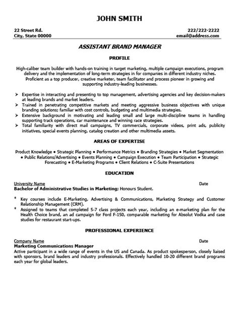 Associate Brand Manager Sle Resume by Assistant Brand Manager Resume Template Premium Resume Sles Exle