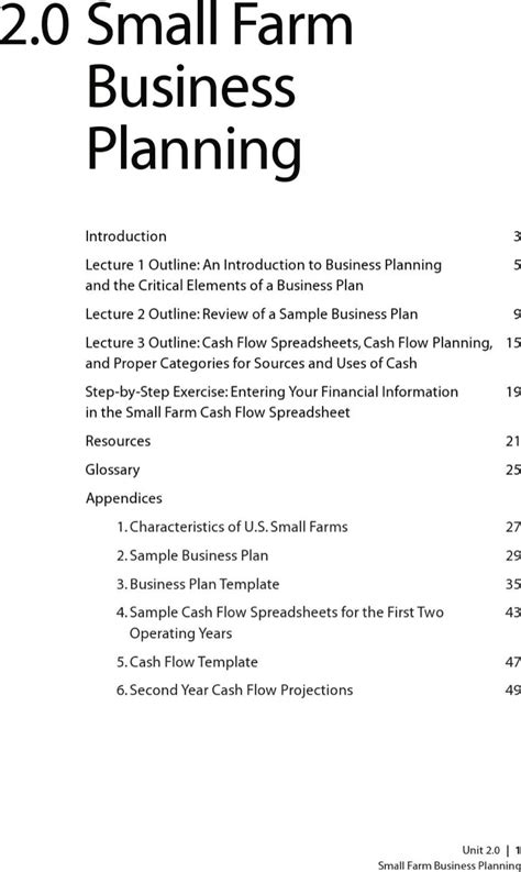 farm business plan templates download free premium