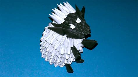 3d Origami Sheep - 3d origami shaun the sheep sheep ewe ram tutorial