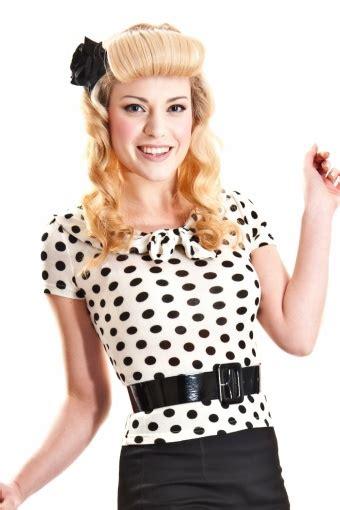 Top Polka Black 50s top polka black white