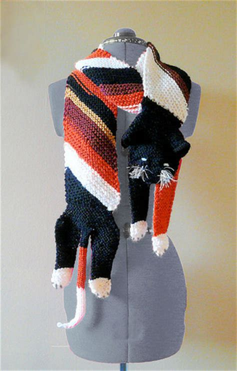 knitting pattern cat scarf cat and kitten knitting patterns in the loop knitting