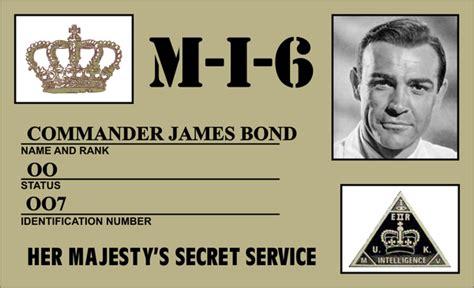 007 bond id card by cmdrkerner on deviantart
