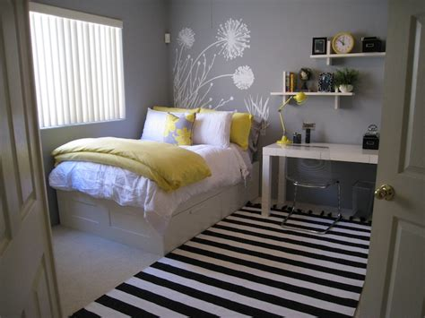 yellow and gray bedroom contemporary bedroom - Bedroom Yellow And Grey