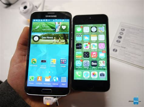 Samsung Iphone 5s iphone iphone 5 vs samsung galaxy s5