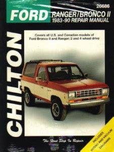 chilton 174 ford ranger 1983 1984 repair manual 1983 1990 ford ranger bronco ii repair manual by chilton
