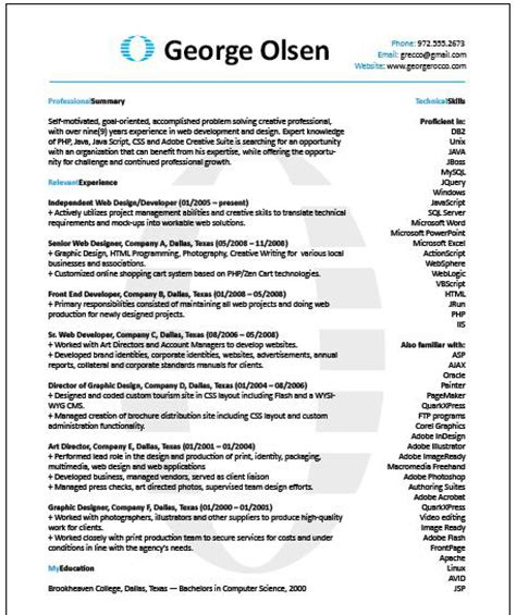 187 archive 187 create an eye catching resume in