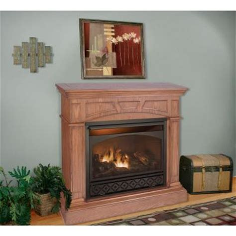 procom gas fireplaces procom 47 in vent free propane gas fireplace in medium