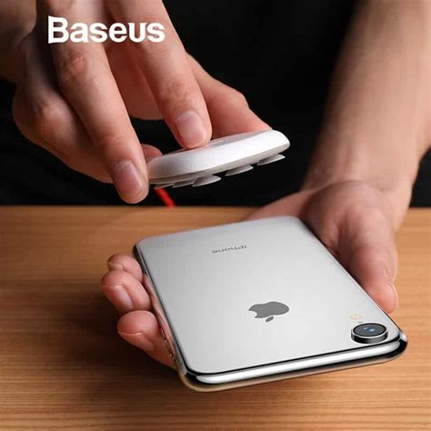 baseus spider suction cup wireless charger  iphone xr xs max portable fast wireless charging