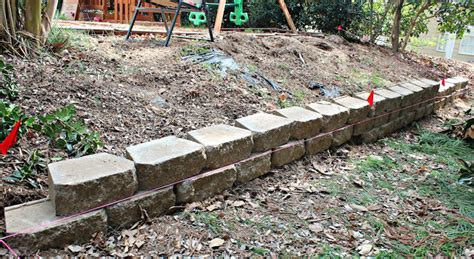 carolina on my mind backyard retaining wall part 1