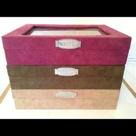 anti tarnish jewelry armoire 60 off prestige jewelry prestige anti tarnish jewelry boxes from heidi s closet on
